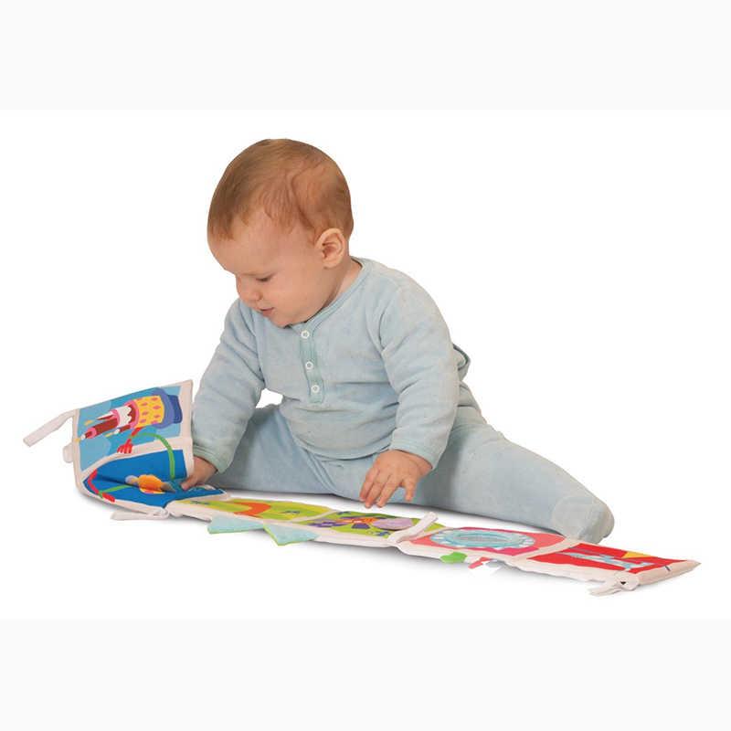 Brinquedos do bebê de Pano Do Bebê Livro de Conhecimento Em Torno de Chocalhos de Bebê Crib bumper Multi-Toque Colorido Bumper Cama Para Crianças Brinquedos