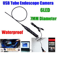 6LEDS Nightvision 7MM diameter Waterproof USB Pipe Inspection Borescope Endoscope Tube Snake Mini camera Cam