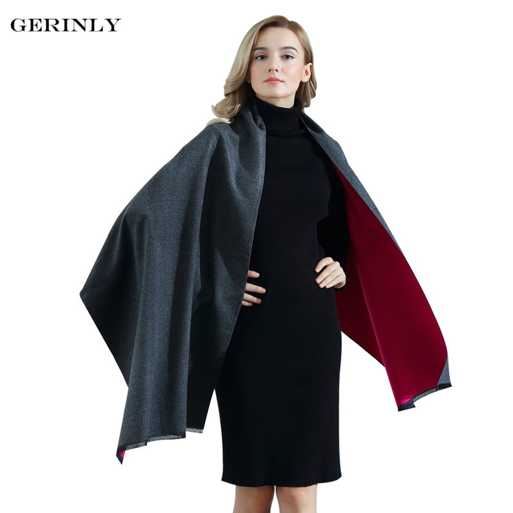 Nouvelle Marque Écharpe En Cachemire Femmes Design De Mode Chaud Épais  Foulards Réversible Dames Pashmina pour 90ad1a97802