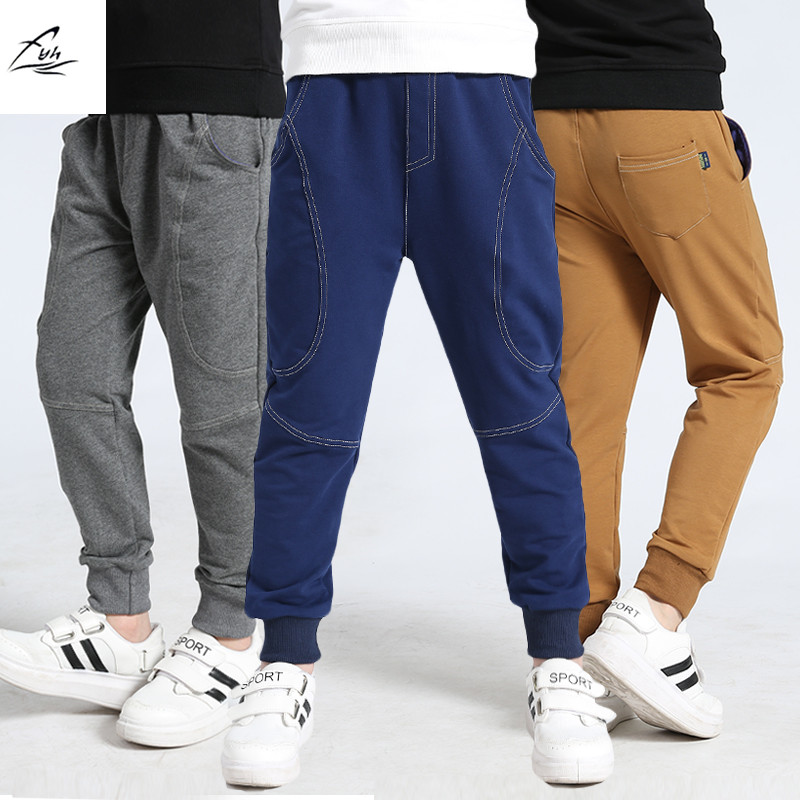 New Spring New Boys' Sports Pants Children's Soft Full Length Pants Sports Trousers School Kids Casual Comfortable Pants drawstring floral casual ankle length pants