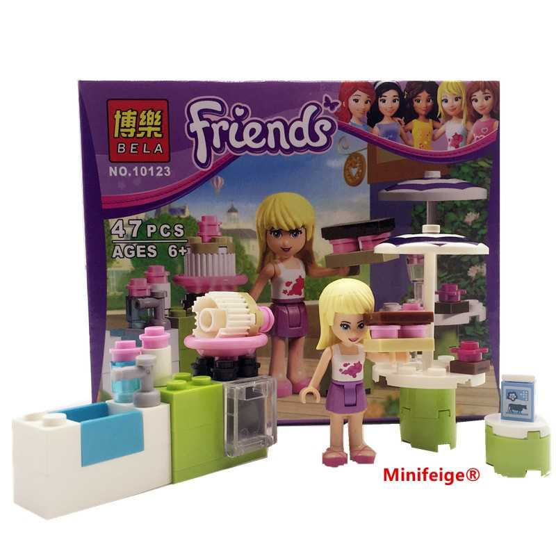 Figures Houses Girl friends Stephanie Mia Olivia Andrea Emma Andrea Blocks Learning Toy Gift Compatible With with friends gift