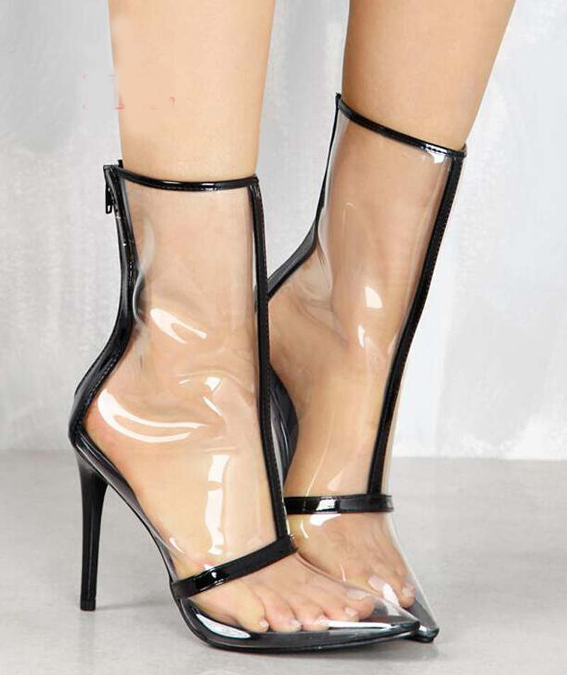 Women High quality Spring Autumn Transparent PVC High Heels Shoes Fashion Pointed Toe Zipped Pumps Shoes Ladies Sexy Party pumps sexy suede transparent pvc patcchwork women pumps pointed toe slip on stiletto high heels plexi pumps party ladies shoes woman