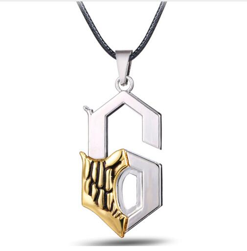 Hot Anime BLEACH Series Alloy Silver Necklace Grimmjow Jeagerjaques Anime Jewelry Shape  ...