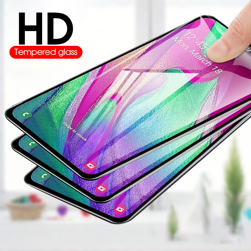 Image 2 - Full Cover Tempered Glass For Samsung Galaxy A20 E A40 M40 M30 M20 M10 Full Cover Screen Protector A20e A 20e 40 M 40 30 20 10-in Phone Screen Protectors from Cellphones & Telecommunications