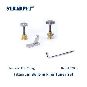 STRADPET violin built-in titanium fine tuner set for LOOP-end string, Violin accessories(China)