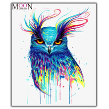 MOONCRESIN Diamond Painting Cross Stitch Multicolored Beautiful Owls Diy Diamond Mosaic Full Round Diamond Embroidery Decoration mooncresin 3d diy diamond embroidery beautiful blue eyes diamond mosaic full round diamond painting cross stitch decoration kits