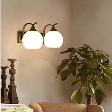 купить BOKT LED Wall Lights Glass Ball Modern Wall Lamp AC110V AC220V Indoor Wall Lighting For Bedroom Living Corridor дешево