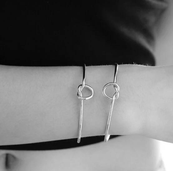 Copper Love Knot Metal Bangle