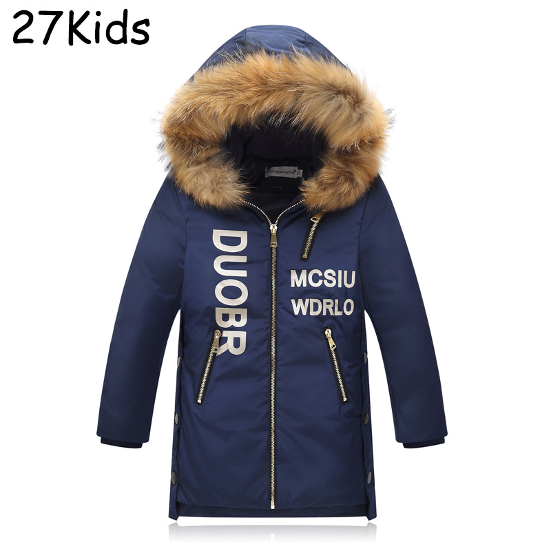 2017 New Fashion 90% White Duck Down Teenagers Brand Thickening Winter Jacket Boys Casual Handsome Warm Outerwear Parka Coat new 5kg king size bed white thickening folding luxury duck down mattress topper 100% cotton shell 95% duck down filling quilted
