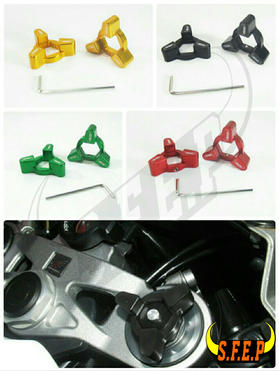 Motorcycle CNC Fork Preload Adjusters For Triumph Speed Triple 05-10/ Bonneville SE/T100 06-10/ SpeedMaster 07-09/ Tiger 07-10