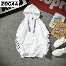 Letter printed men Hooded Hip Hop Pullover Fake two pieces Streetwear casual high quality Side Sweatshirt Hoodies Plus Size