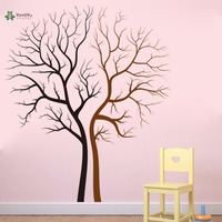 YOYOYU Vinyl Wall Decal Couple Bare Tree Trunks Art Living Room Customize Modern Home Decoration Stickers FD542