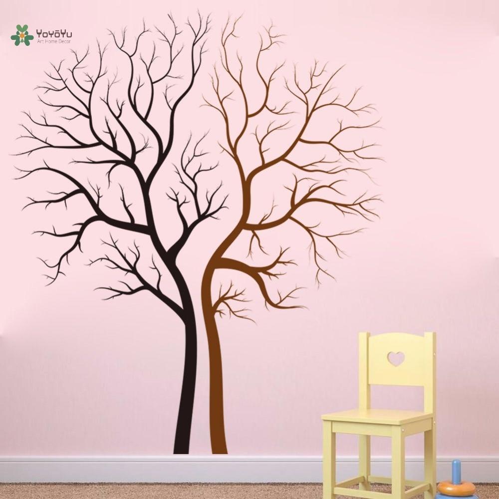YOYOYU vinyle sticker mural Couple nu arbre troncs Art salon personnaliser moderne décoration autocollants FD542