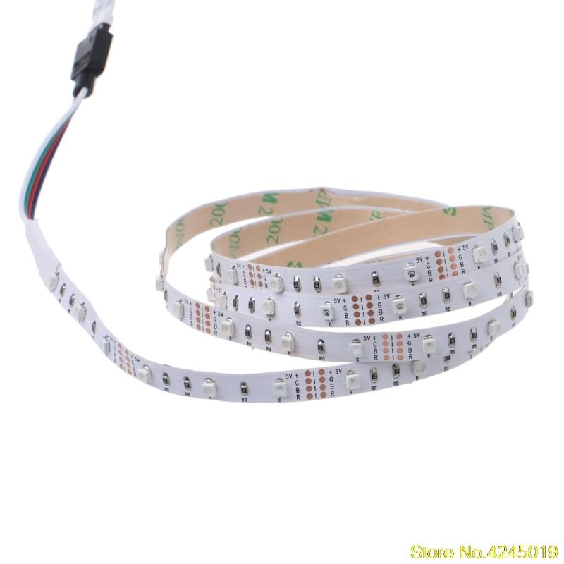 New quality 5V 3528 RGB USB 30 LED/m Non Waterproof Flexible Strip Light TV Back Lighting Kit+3 Key RGB Controller