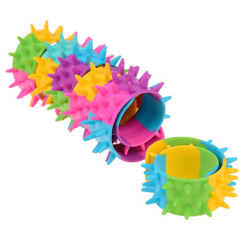 Anti Stress Toy Spike Fidget Bracelet Sensory Toy Spiky Slap Bracelet Antistress For Autism ADHD Anxiety Kids Party Favor