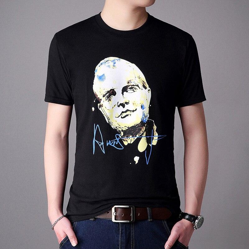 2018 Spring And Summer Fashion T-shirt Men 3D Portrait Print Funny T Shirts Hip Hop High Street Harajuku Top Tee