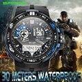 Relógios marca de moda relógio de quartzo dos homens 2016 sanda g choque militar do exército esporte relógios led digital relógios de pulso relogio masculino
