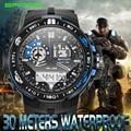 Relojes de los hombres 2016 marca de moda reloj de cuarzo sanda g choque militar del ejército sport relojes led digital relojes de pulsera relogio masculino