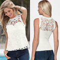 Women Summer Vest Top Sleeveless Casual Tank Tops T-Shirt Lace