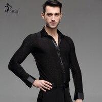 Tassel Latin Dance Dress Clothing Salsa Costume Ballroom Competition man shirt