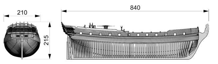 RealTS בקנה מידה ערכת דגם ספינת עץ Enterprise 1/48 HMS