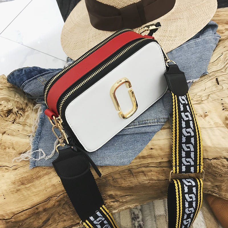 2019 Fashion Wide Shoulder Straps Leather Luxury Handbags Women Shoulder Bags Designer Messenger Crossbody Bag For Small Flap