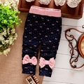 2016 autumn winter baby girls pants cute bows infant girls clothes polk dot newborn girls leggings trousers