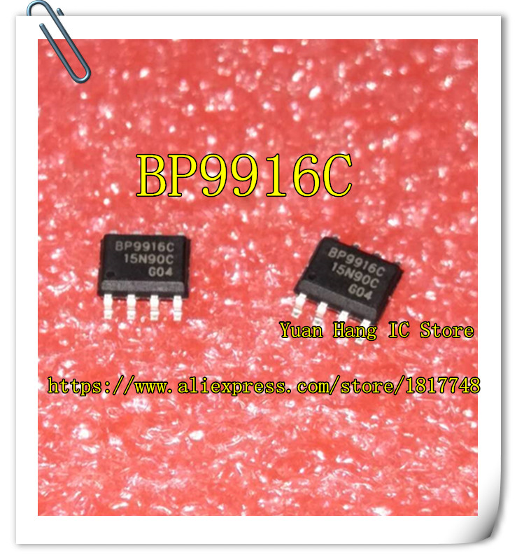 купить 10PCS BP9916C BP9916 9916C SOP-8 LED constant current drive chip short circuit protection overheat regulation по цене 99.96 рублей