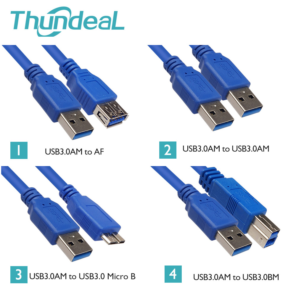 ThundeaL 1.5m USB Cable AM Male to Female AM AF BM Micro-B Connector Extension Data Cable Adapter Printer HDD USB 2.0 Cable аксессуар orient micro usb 3 0 am micro bm 1 8m black mu 318f