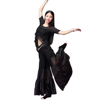 2Pcs Belly Dance Practice Costumes 2017 Newest Dance Training Suit Sexy Modal Winter Belly Dance Costumes