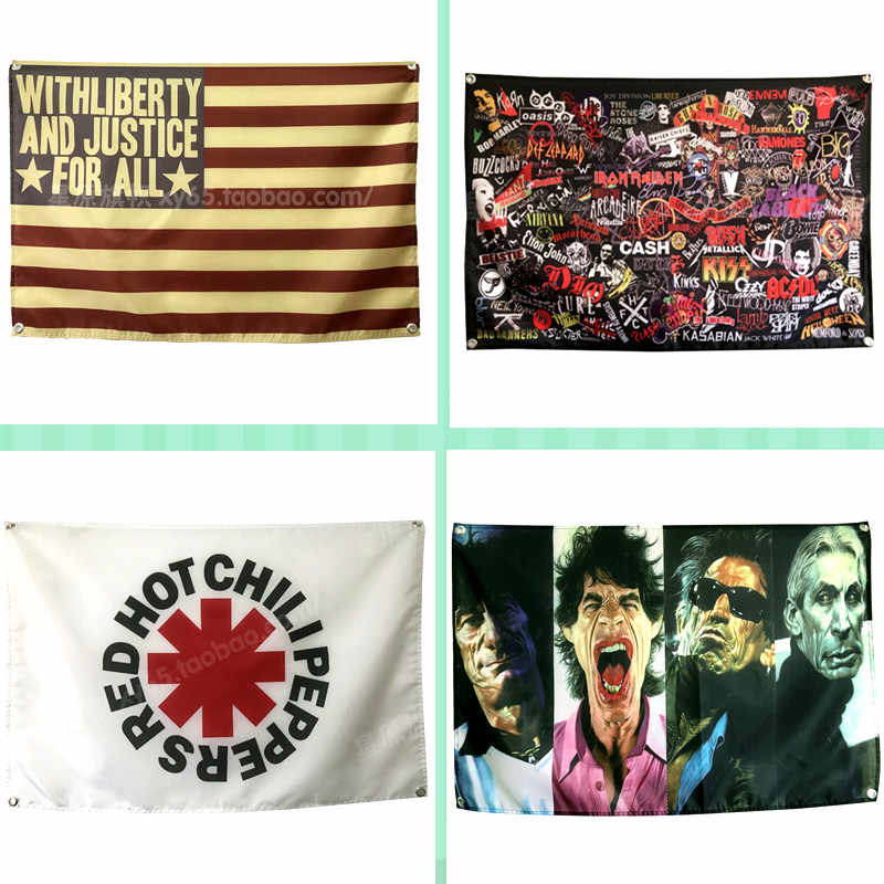 Рок \ Джаз \ тяжелый металл потертый шик плакат со скалой флаг баннер гобелен живопись панно для баров и кафе украшения фона спальни
