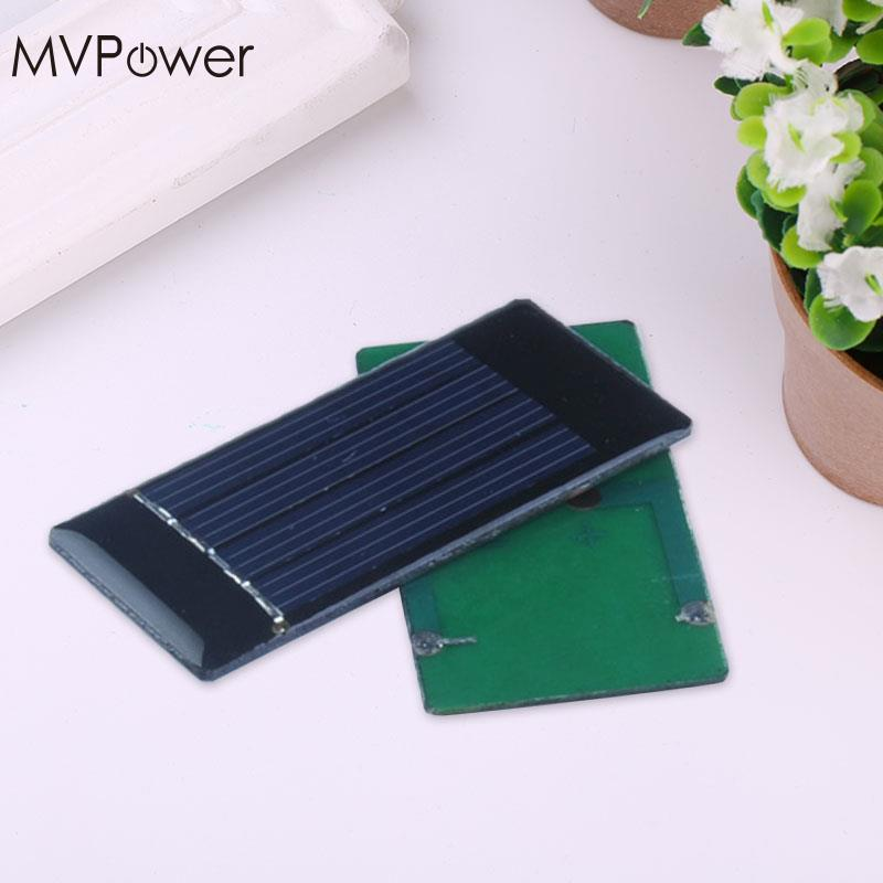 Portable Mini Home DIY 2V 50mA Solar Panel Module Solar Power Panel for Cell Phone Charger Smart Mobile phone Toy 30x60mm