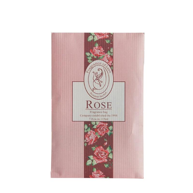 Подвесное ароматное саше Ароматерапия сумка анти-вредитель и анти-плесень для гардероба шкаф автомобильный аромат воздуха Освежитель домашние ароматы - Цвет: Rose