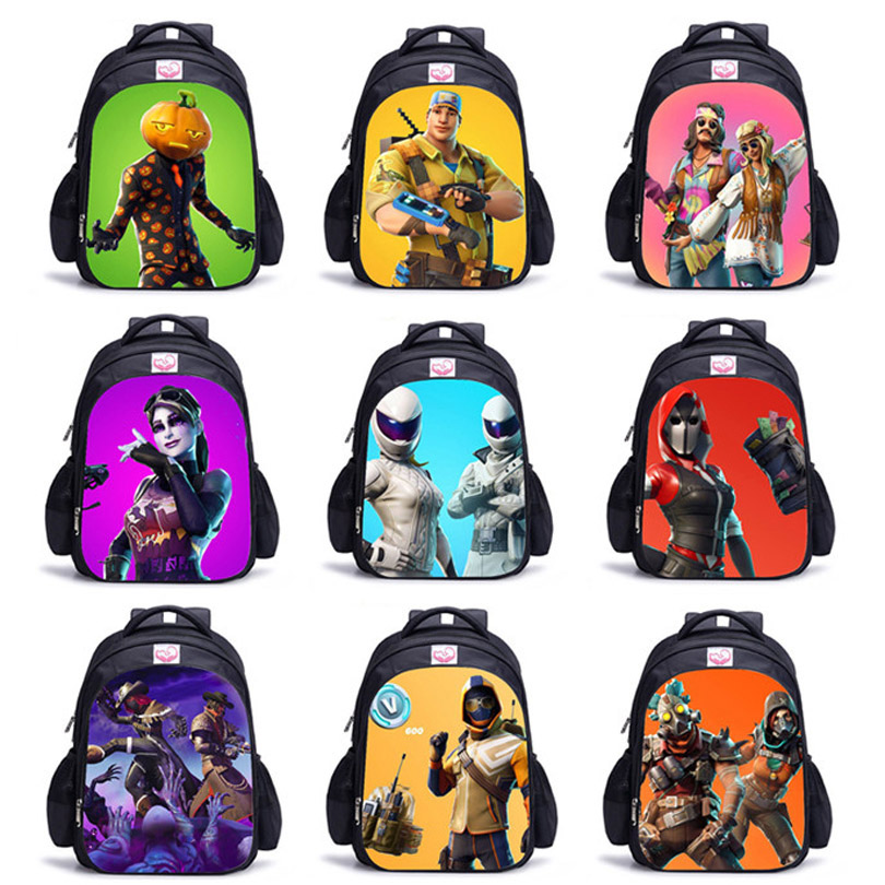 Children Fort Night 3D Battle Royale Anime Backpacks for Boys and Girls Fortnit Game Bags Cosplay Costume for Kids Hot Game