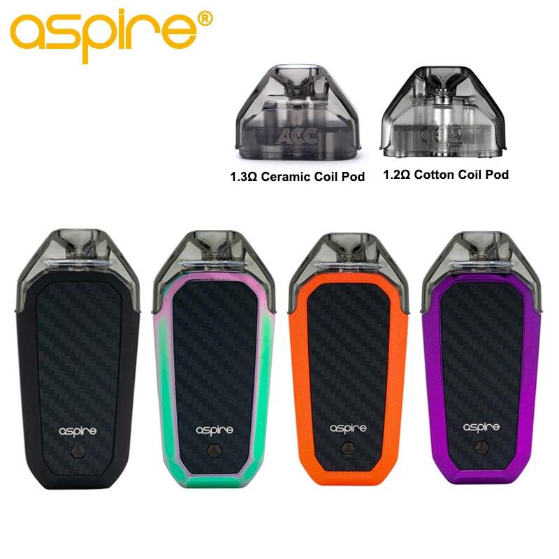 Em Estoque Cigarro Eletrônico Aspire AVP AIO MTL starter Kit Vape Pod 2ml Capacityand 1.2ohm Bobina Embutido 700mAh bateria
