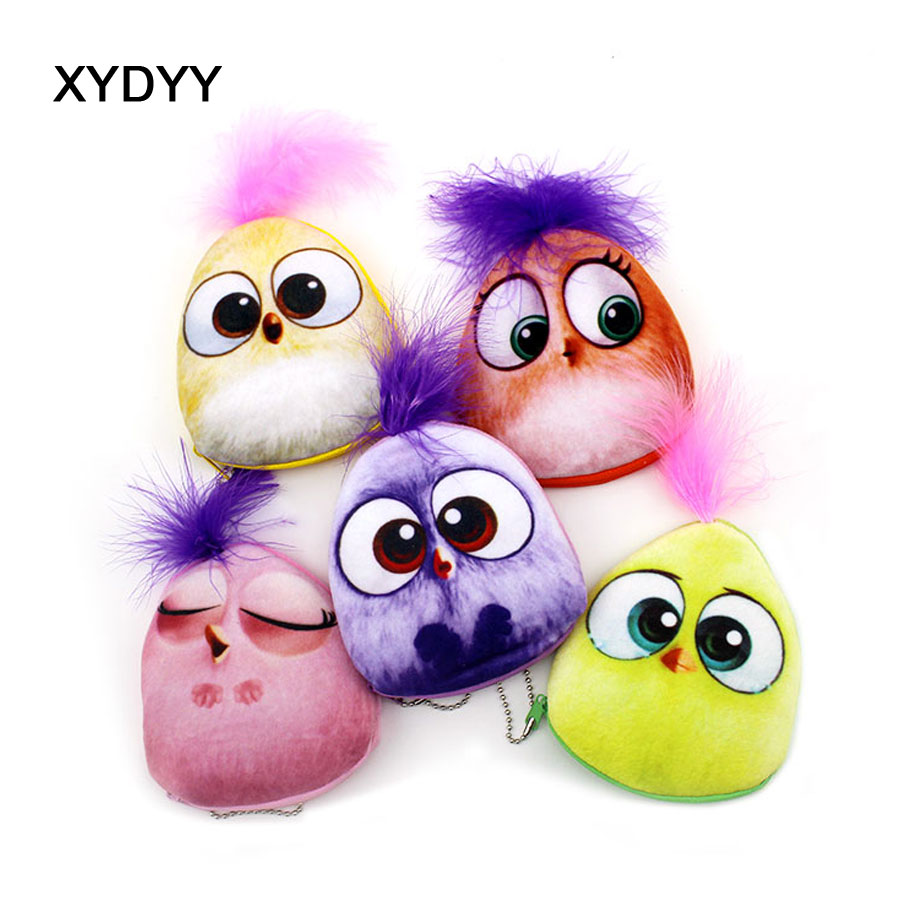 XYDYY Kawaii Cartoon Birds Girls Coin Purses Women Fashion Storage Money Pouch Children Plush Wallets Mini Purse Bag