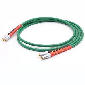 Image 1 - Paire haute qualité 2328 pur cuivre + argent plaqué HiFi Audio câble RCA câble dinterconnexion