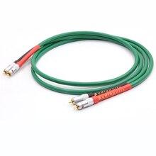 Çift yüksek kaliteli % 2328 saf bakır + gümüş kaplama HiFi ses kablosu RCA bağlantı kablosu