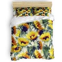 Sunflowers Forever Duvet Cover Cotton Duvet Cover King Size Queen Size Quilt Cover Set Bedclothes Comforter Single Bedding Sets