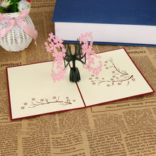 Merry Christmas Card Gifts 3D Pop Up Cards Valentine Lover Happy Birthday Anniversary Greeting