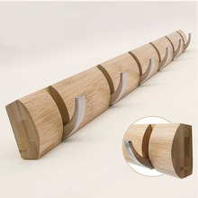 6 -7-8Hook Wall-Mounted Rack Coat Hook Towel Hanger Holder European Style Dress Wall Door Bamboo