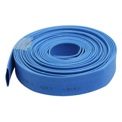 Ratio 2:1 Blue Polyolefin 8mm Dia Heat Shrink Shrinkable Tube 10 Meter ratio 2 1 7mm dia yellow polyolefin heat shrinkable tube 10m