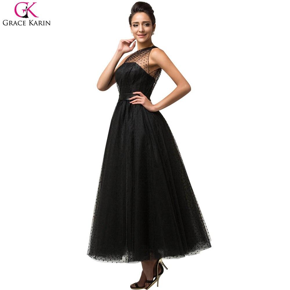 Grace karin prom kleider sleeveless gothic vintage schwarze schulter ...