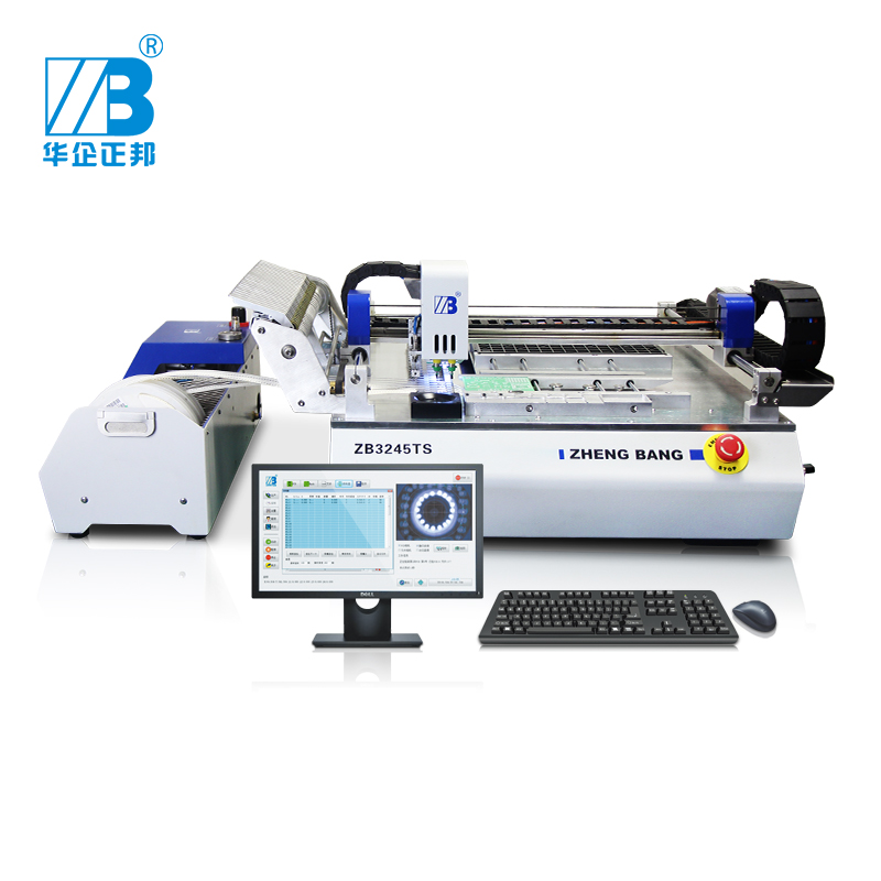Low Cost Pick Place Machine ZB3245TS With 4pcs Camera / LED Chip Mounter Machine/ LED SMT Assembly Machine
