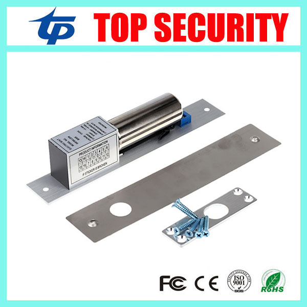 Fail safe NC-type DC12V door release electric strike electric bolt lock power to lock electric door lock for access control surface mounting type dc12v fail safe mode electric bolt lock for access control or intercom system