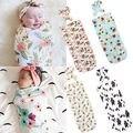 Muslin Cotton Cute Newborn Baby Cotton Swaddle Blanket Bedding Headband Covers Sleeping Blanket