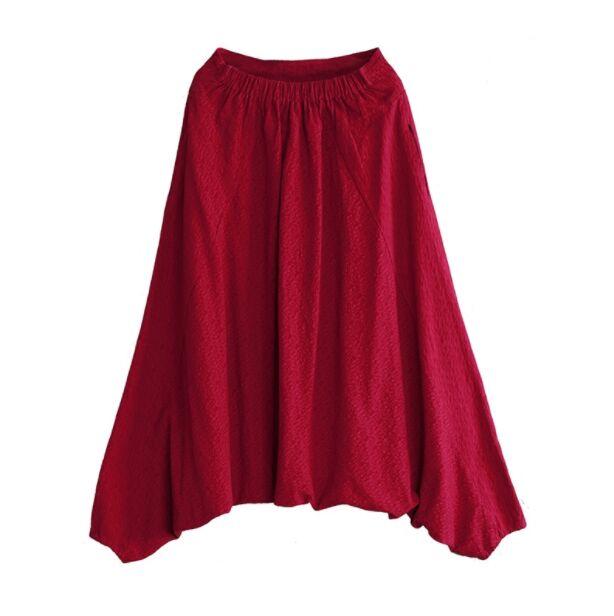 Automne Variété Une Nouvelles S193 white Pantalon Porter Et Élastique Grey Red wine Taille Veau Couleur De Gratuite Livraison Coton Solide D'hiver Femmes Lin Fpg7x5wq