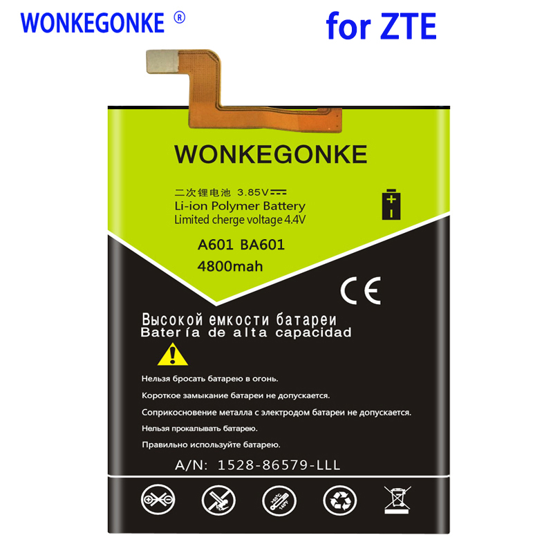 WONKEGONKE 4800mah 545978 / ICP51/59/78SA For <font><b>ZTE</b></font> <font><b>Blade</b></font> <font><b>A601</b></font> BA601 <font><b>Battery</b></font> image