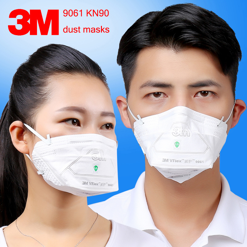 3M 9061 KN90 respirator dust mask 25PCS/package Folding filter mask against dust PM2.5 particulates respirator face mask цены онлайн