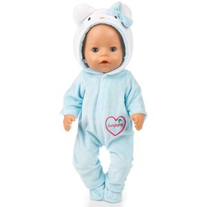 Image 5 - Suit+Shoes Dolls Outfit For 17 inch 43cm zapf  Baby  Born Doll Cute Jumpers Rompers  Doll Clothes